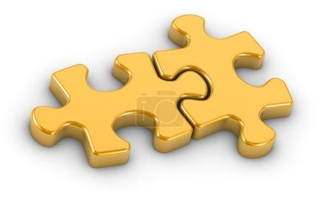 Golden Gijsaw Puzzle Pieces