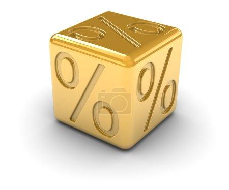 Golden Percentage Dice