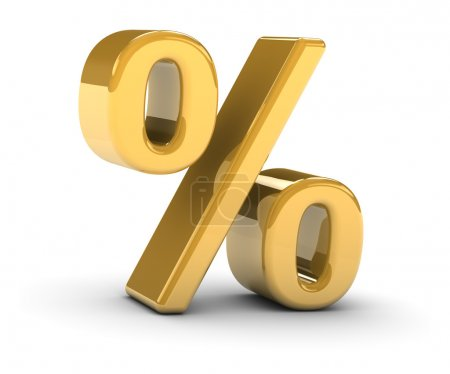 Golden percentage sign