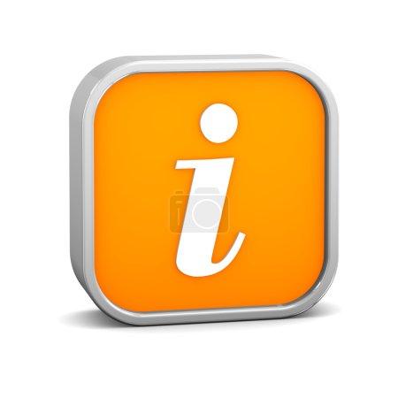 Orange Info Sign
