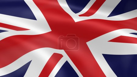 United Kingdom flag in the wind. Part of a series....