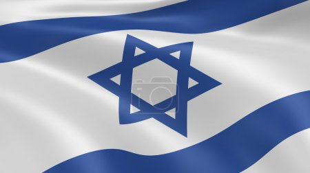 Israeli flag in the wind. Part of a series.