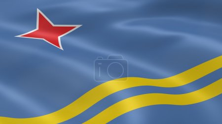 Aruban flag in the wind. Part of a series....