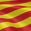 Catalonian flag in the wind. Part of a series....