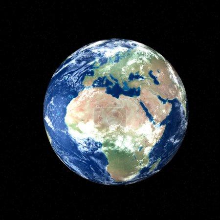 Photo pour La Terre dans l'espace - concept Europe et Afrique - image libre de droit