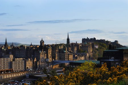 Photo for View on Edinburgh city from castle, Scotland - Royalty Free Image