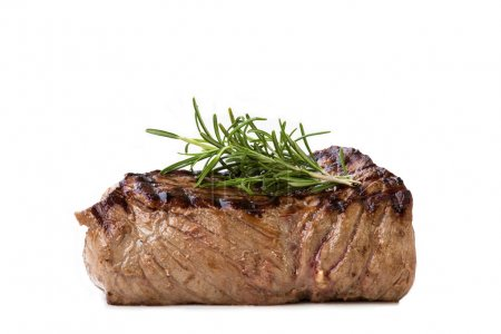 Nice juicy flamegrilled Filet Mignon isolated on w...