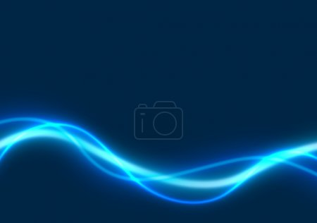 Photo for Blue Glowing Lines - colored abstract illustration, bitmap - Royalty Free Image