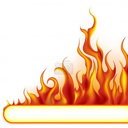 Illustration for Fire Banner - colored illustration, vector - Royalty Free Image