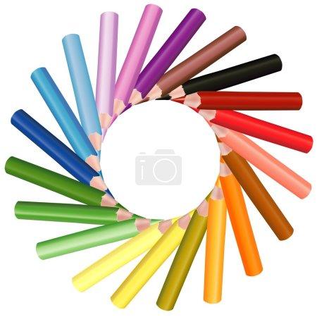 Illustration pour Crayons de couleur - illustration colorée, vecteur - image libre de droit