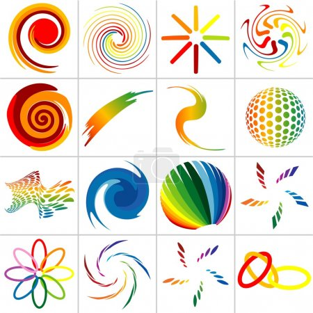 Illustration for Colored Abstract Symbols - colored illustration, vector - Royalty Free Image