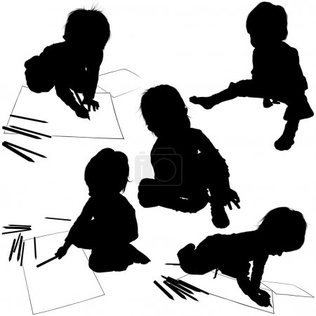 Baby with Pencils