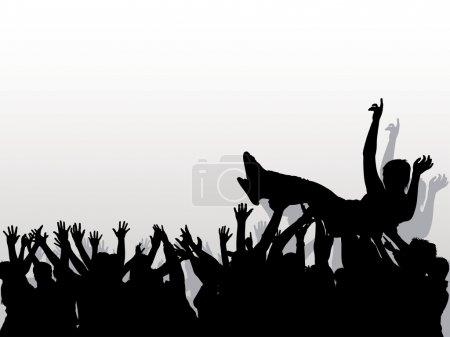 Illustration pour Public - Arrière-plan avec silhouettes, vecteur - image libre de droit