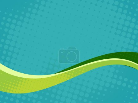 Illustration for Abstract vector wave background art - Royalty Free Image