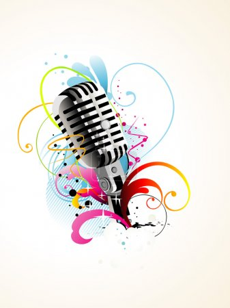 Vector artistic mic background