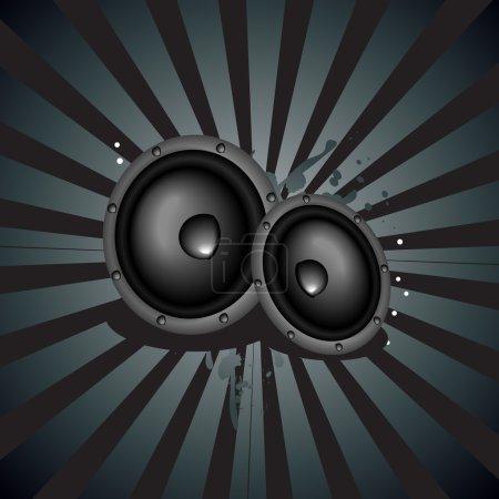 Illustration pour Fond d'enceinte de musique vectorielle - image libre de droit
