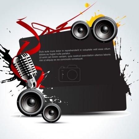 Foto de Ilustración de fondo de la música colorido Vector - Imagen libre de derechos