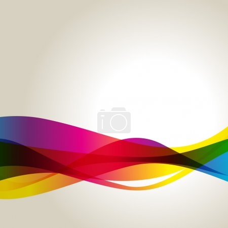 Illustration for Colorful abstract vector wave design background - Royalty Free Image