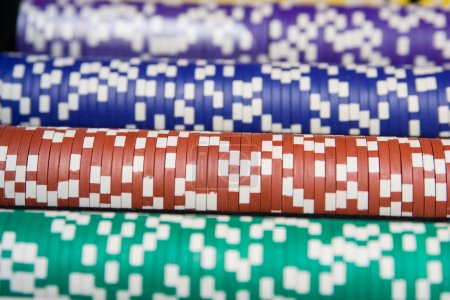 Photo for Casino chips all colors - Royalty Free Image