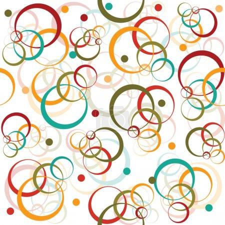 Foto de Patrón retro con círculos de colores y punto - Imagen libre de derechos