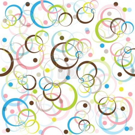 Foto de Patrón retro con círculos de colores y puntos - Imagen libre de derechos