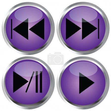 Photo pour Boutons violets pour la conception web - image libre de droit