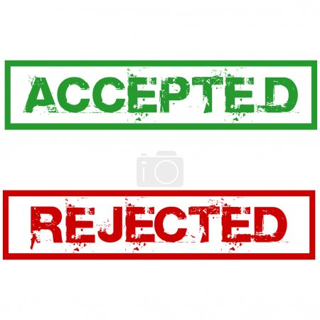 Photo for Rejected and accepted stamps - Royalty Free Image