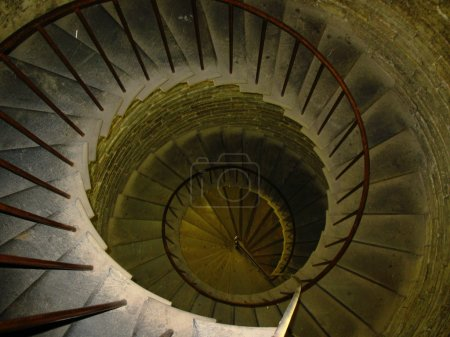 Old spiral spin stair