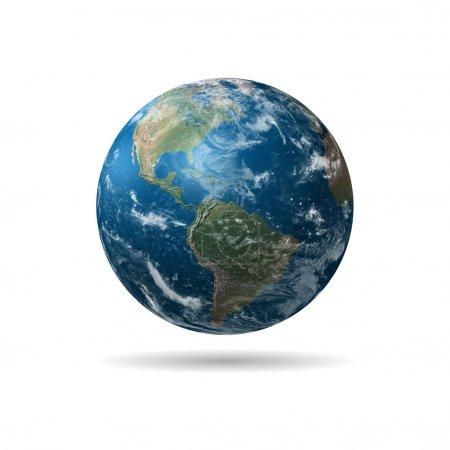 Photo pour Rendu 3D réaliste de la Terre - image libre de droit