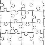 Transparent vector puzzle - place your picture und...