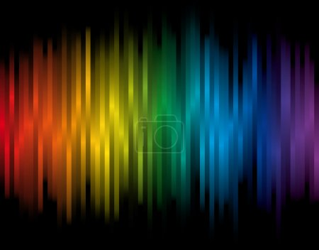 Colorful vector background with spectrum lines...