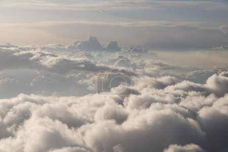 Photo for Looking DOWN at clouds from a jet (10MP camera) - Royalty Free Image