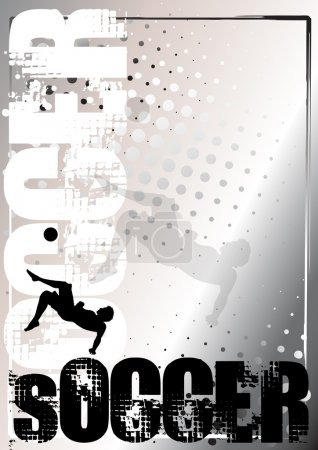 Soccer silver poster