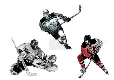 Sketching of the ice hockey