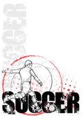 Sketching circle soccer background 2
