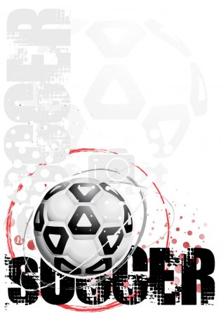 Cyrcle soccer poster background 3