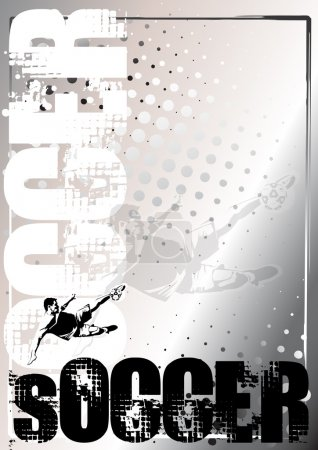 Soccer silver poster background 4