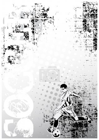 Soccer grungy poster background 5