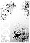 Soccer grungy poster background 3