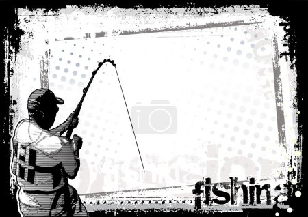 Illustration for Sketching of the fishing - Royalty Free Image