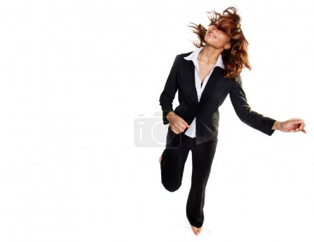 Bussiness woman jumping