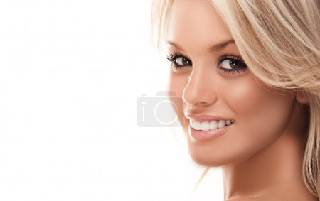 beautiful smiling blonde girl