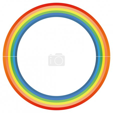 Photo for Rainbow circle isolate in a white background - Royalty Free Image