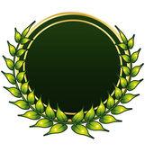 Green bio foliage crown label