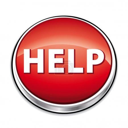 Illustration pour Bouton d'aide rouge . - image libre de droit