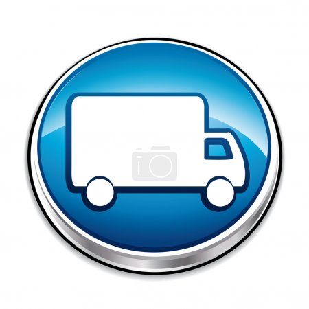 Blue delivery concept icon.