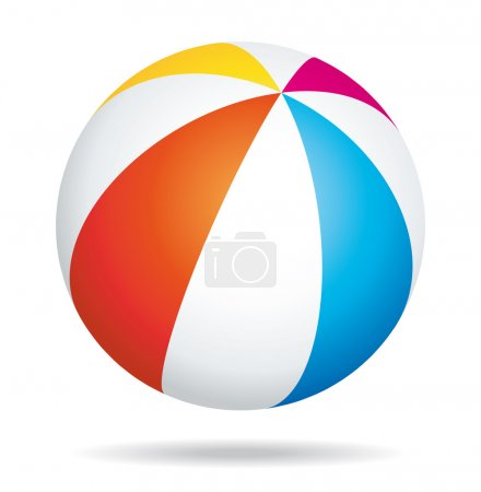 Illustration for Colorful beach ball - Royalty Free Image