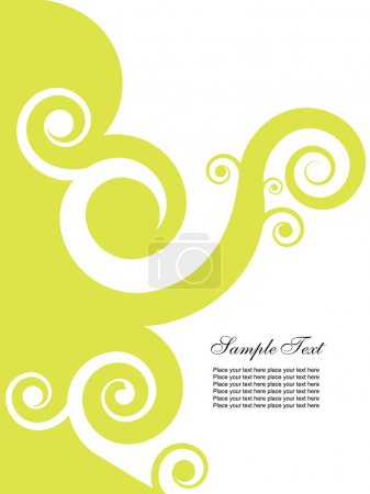 Illustration for Abstract background with swirls. Easy to edit vector image. - Royalty Free Image