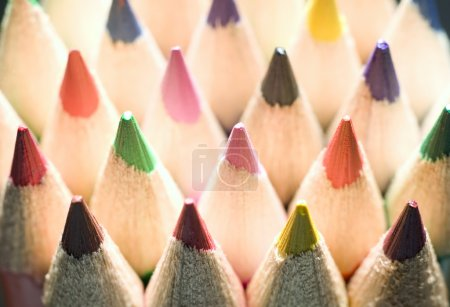 Photo for Texture of many colorful pencils, education concept - Royalty Free Image