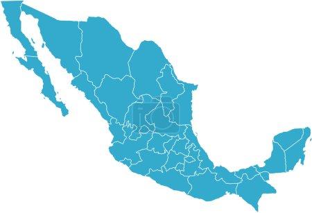 Photo pour Il y a une carte du pays Mexique - image libre de droit